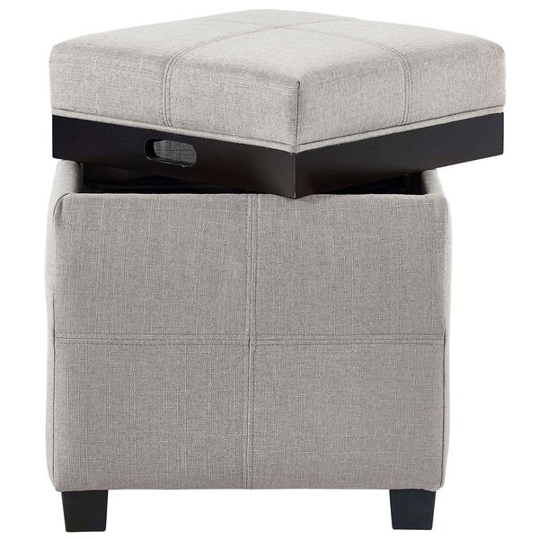 Pleasing Shop Luxy Storage Cube With Reversible Tray Lid On Sale Gmtry Best Dining Table And Chair Ideas Images Gmtryco