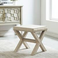 Zeno-Upholstered Single Bench With Stud Detail