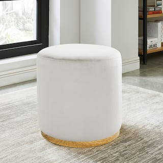 Ivory Ottoman At Overstock Com