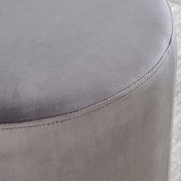 Groovy Shop Sonata Velvet Ottoman On Sale Free Shipping Today Short Links Chair Design For Home Short Linksinfo