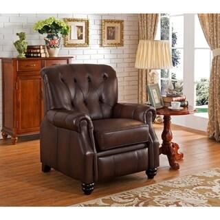 Carolina Leather Tufted Pushback Recliner