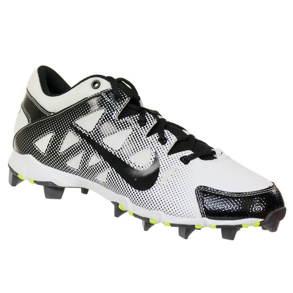 Nike Women  x27 s Hyperdiamond Keystone Low Softball Cleats White Black 3e27d9010