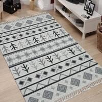 Handmade Flat-Weave Itza Ivory Rug - 9' x 12'