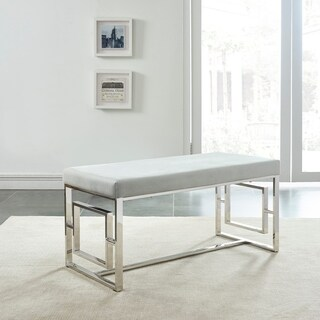 Eros-Double Bench Stainless Steel/Velvet
