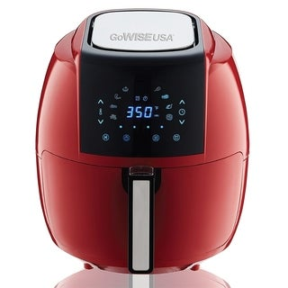 GoWISE USA 5.8-Quarts 8-in-1 Electric Air Fryer XL Red