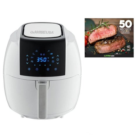 GoWISE USA 5.8 Quarts 8-in-1 Electric Air Fryer XL White