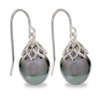 PearLustre by Imperial Sterling Silver Tahitian Pearl Drop Earrings