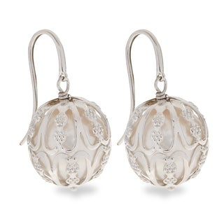 PearLustre by Imperial Sterling Silver 14-15mm Caged FW Pearl Drop Earrings