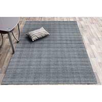 Ashley Handmade Grey Wool Area Rug - 7'6 x 9'6