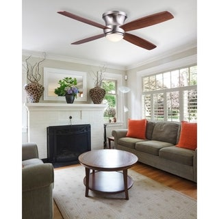 Zorion Flush Mount Ceiling Fan with LED and Remote Control