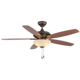"""Modelo 52"""" Pull-Chain Ceiling Fan with LED Bulbs"""