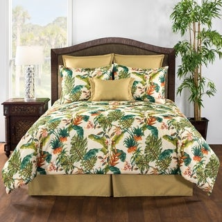 Jamaica tropical orange and green comforter set