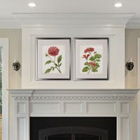 Farmhouse Rooster -2 Piece Set - Silver Frame