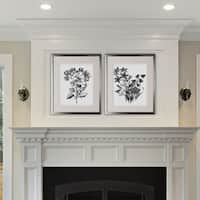 Botanical Black and White -2 Piece Set - Silver Frame