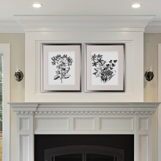 Botanical Black and White -2 Piece Set - Silver Frame