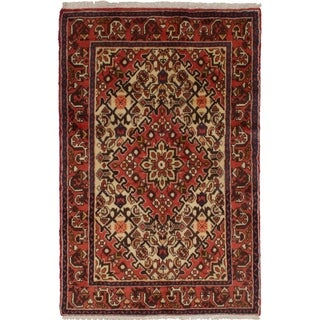 eCarpetGallery  Hand-knotted Hosseinabad Dark Copper Wool Rug (3'2 x 4'9)