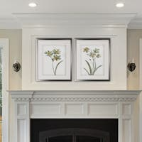 Neutral Botanical I -2 Piece Set - Silver Frame