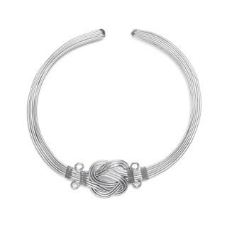 Handmade Buddha Knot Necklace - Silver (India)