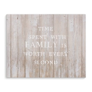 TIME SPENT WITH FAMILY Premium Canvas Gallery Wrap