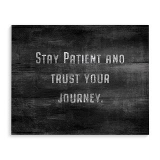 STAY PATIENT Premium Canvas Gallery Wrap