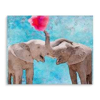 ELEPHANT FRIENDSHIP Premium Canvas Gallery Wrap