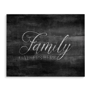 FAMILY GATHERS HERE Premium Canvas Gallery Wrap
