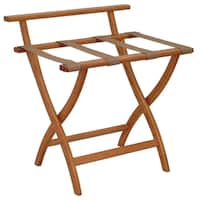 Wooden Mallet WallSaver Luggage Rack Medium Oak Finish LR4-MOTAN