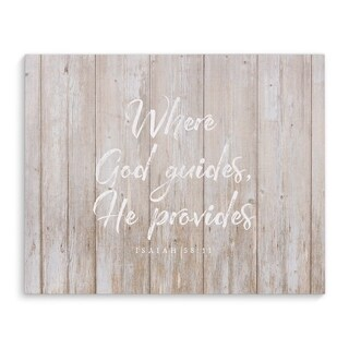 WHERE GOD GUIDES Premium Canvas Gallery Wrap