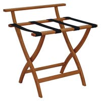 Wooden Mallet WallSaver Luggage Rack Medium Oak Finish LR4-MOBLK