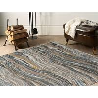 Murano Mordern Abstract Multicolor Soft Pile Rug - 5'3 x 7'6
