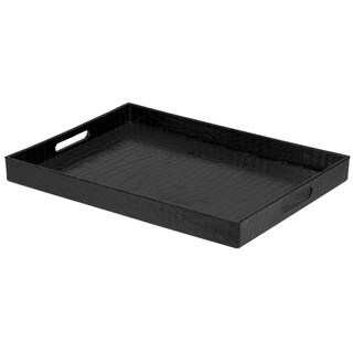 Home Basics Black Crocodile Serving Tray