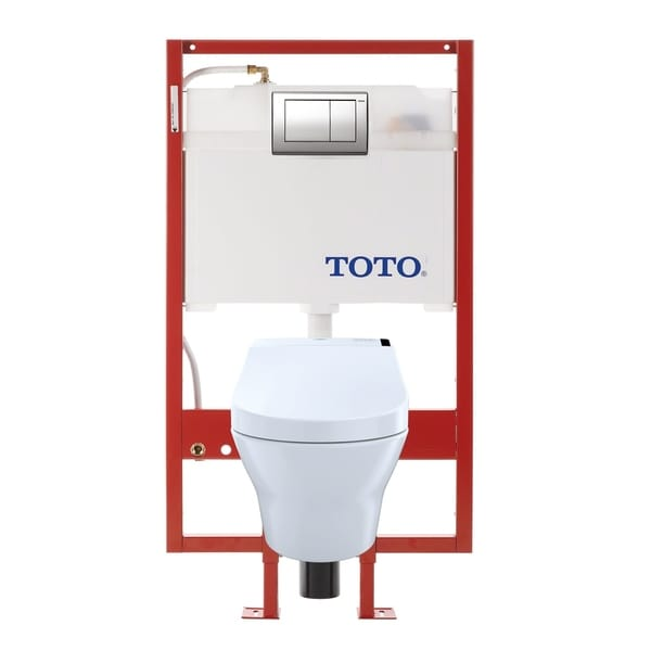 Shop Toto MH Connect+® Wall-Hung D-Shape Toilet and C200 WASHLET ...