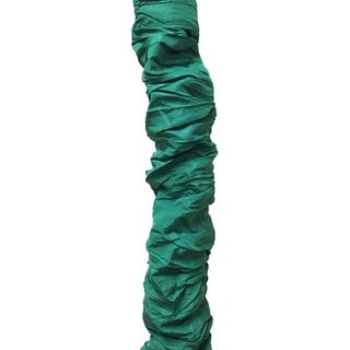 Royal Designs Green Cord & Chain Cover-4 feet-Silk-type Fabric Touch Fastener - Use for Chandelier Lighting Wires (CC-25-GRN)