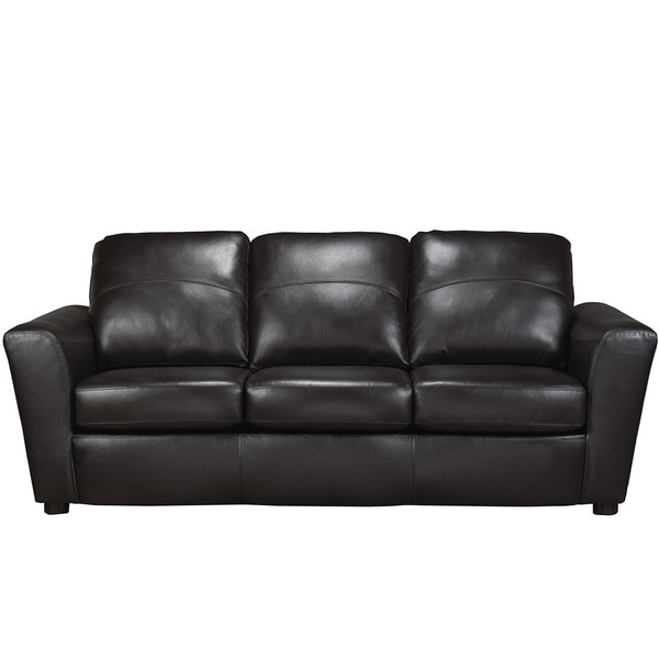 Ital Leather Sofa: Shop Augusta Italian Leather Sofa