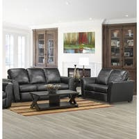 Augusta Italian Leather Sofa and Loveseat Set