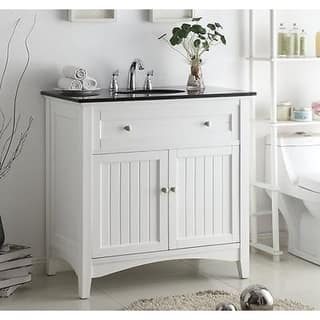Country bathroom vanities vanity cabinets for less - White cottage style bathroom vanities ...