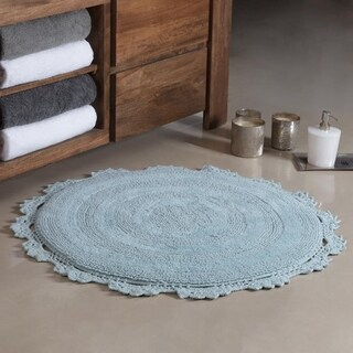 Winchester Crochet Border Tufted Bath mat