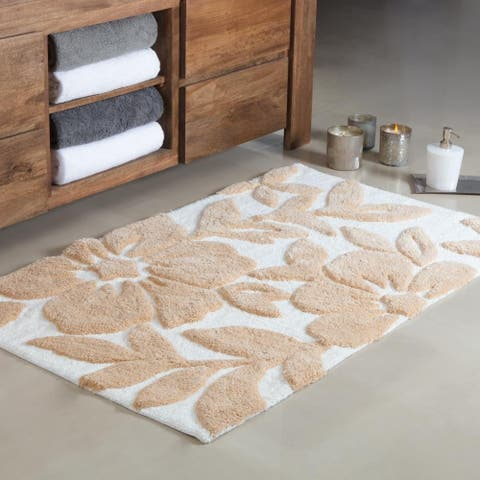 Burlington Tufted Leaf Bath mat - 30X50