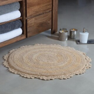 Winchester Crochet Border Tufted Bath mat