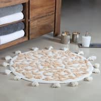 Cambridge Round Tufted Bath mat with tassels
