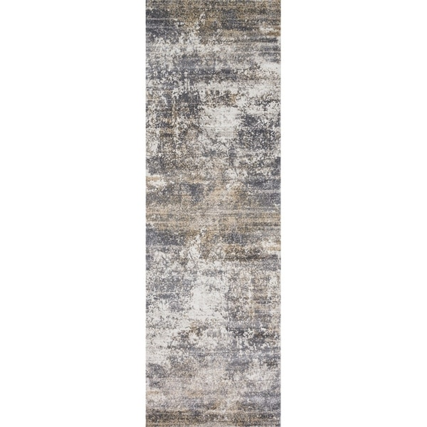 Shop Distressed Abstract Grey Taupe Textured Vintage Rug