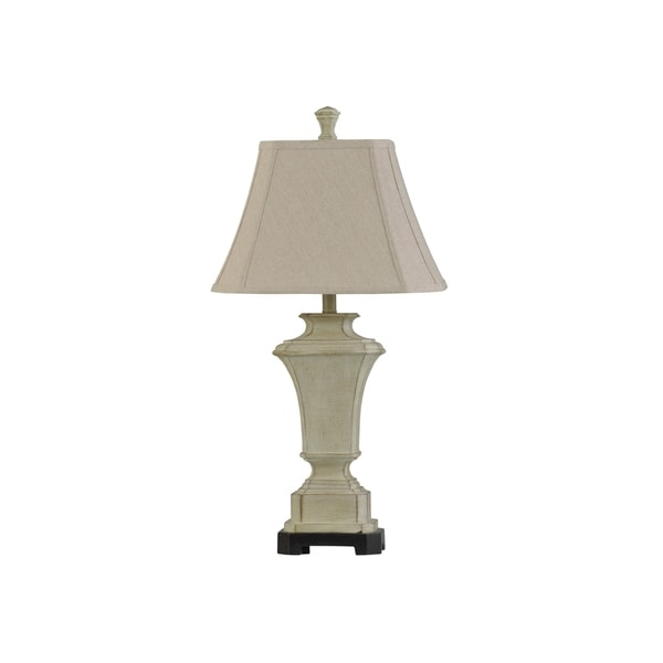 StyleCraft Sauga Cream Table Lamp - Taupe Softback Shade