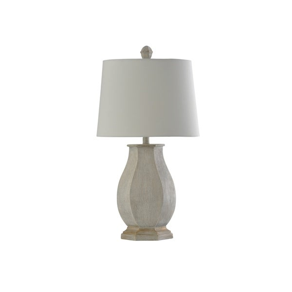 StyleCraft Basilica Sky Table Lamp - White Hardback Shade