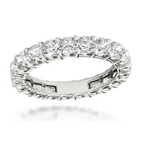 Platinum Cushion Cut G Color VS Clarity Diamond Eternity Band Anniversary Ring 3ctw by Luxurman