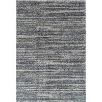 Contemporary Grey Abstract Shag Rug - 7'10 x 10'10