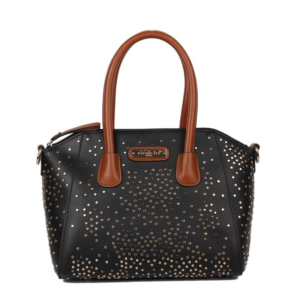 Zena Black Studded Satchel Bag