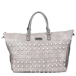 Mavis Silver Pearl Duffle Bag