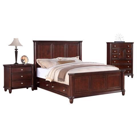 Gracewood Hollow Keyes 3-piece Queen Storage Bedroom Set