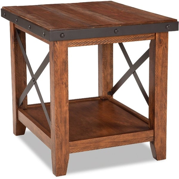 Taos Canyon Brown Rustic End Table
