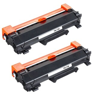 2PK Compatible TN730 Toner Cartridge NO CHIP For Brother DCP-L2550DW HL-L2350DW HL-L2390DW HL-L2395DW HL-L2370DW ( Pack of 2 )